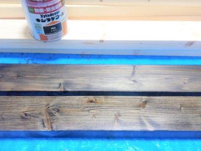 60cm水槽台自作~其の壱:木材塗装~